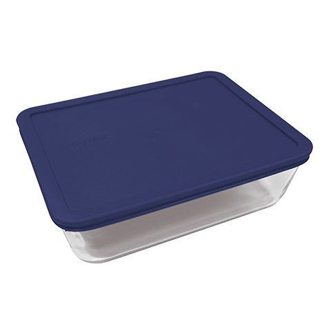Pyrex® Simply Store 11 Cup Rectangle Dish w/ Blue Lid