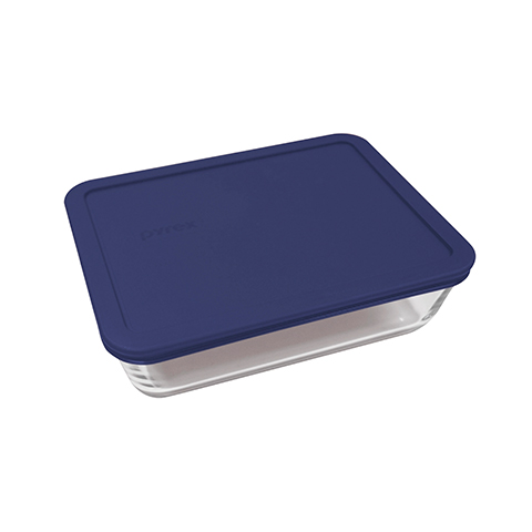 Pyrex® Simply Store 3 Cup Rectangle Dish w/ Blue Lid