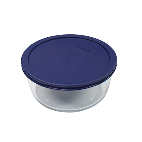 Pyrex® Simply Store 4 Cup Round Dish w/ Blue Lid