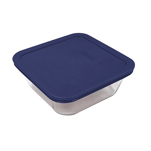 Pyrex® Simply Store 4 Cup Square Dish w/ Blue Lid