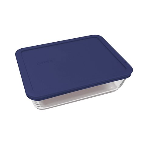 Pyrex® Simply Store 6 Cup Rectangle Dish w/ Blue Lid
