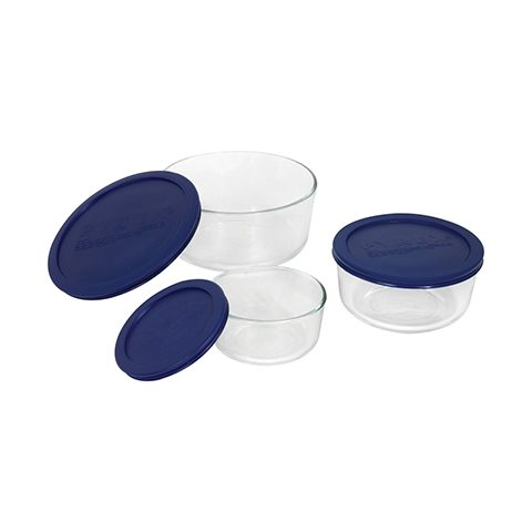 Pyrex® Simply Store 6pc Round Set w/ Blue Lids